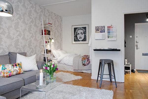 Как обустроить гостиную, совмещенную со спальней.