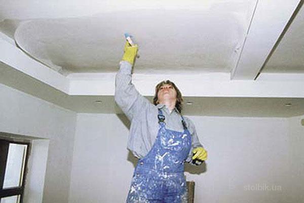 Если Вы плюнули на подвесные и натяжные потолки и просто решили его покрасить, то может Вы и нашли гениальное решение!