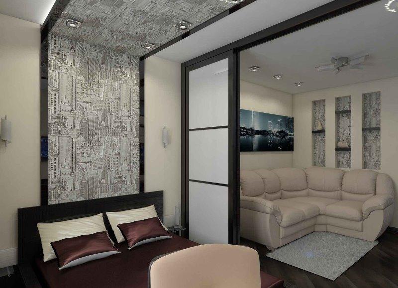 Зонирование однокомнатной квартиры: преображение интерьера с минимальными вложениями