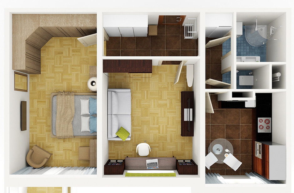 Как сочетанием света, цвета и рисунка расширить комнату до «умопомрачительного» размера!