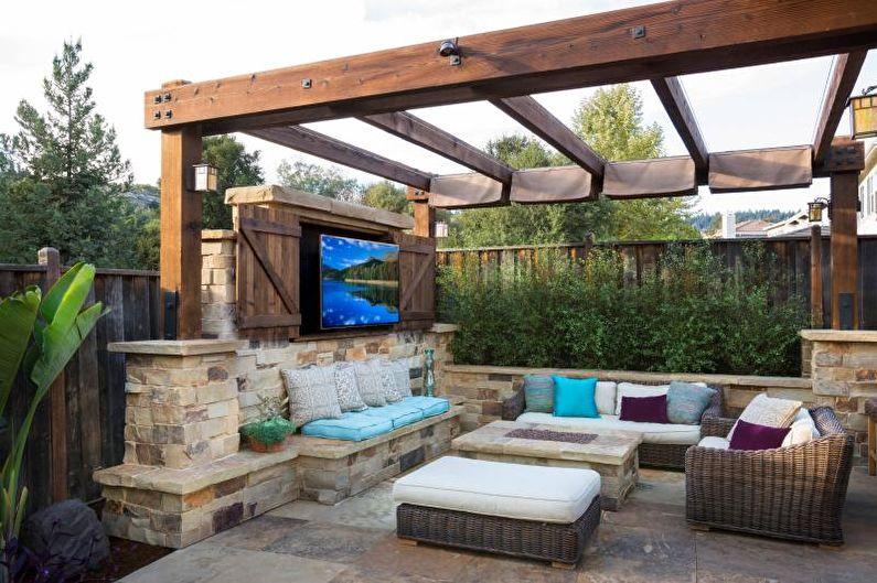 Что нужно для организации стильного и удобного обеденного пространства на даче и во дворе частного дома