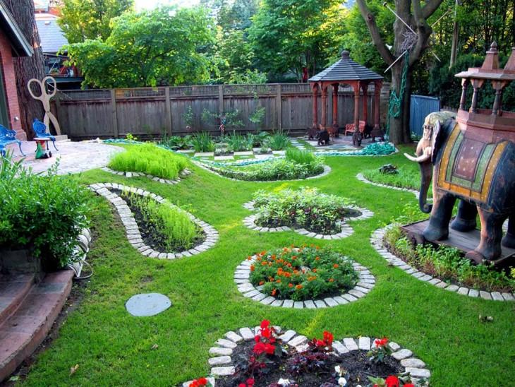 Как сделать ландшафтный дизайн во дворе дома или дачи своими руками с минимальными затратами